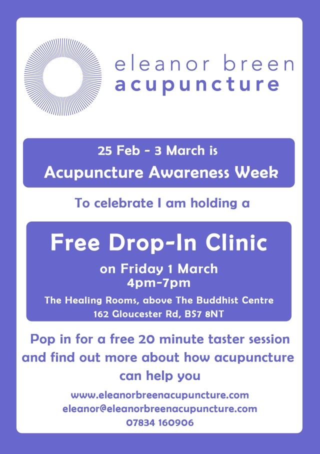 Free taster sessions for Acupuncture Awareness Week!